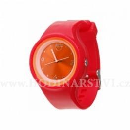 Hodinky Silic watch color Round babe červená