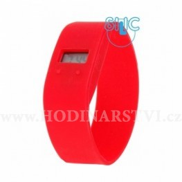 Hodinky Silic ION II 17cm - červená